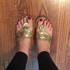 Jack Rogers Gold Sandals Size 9